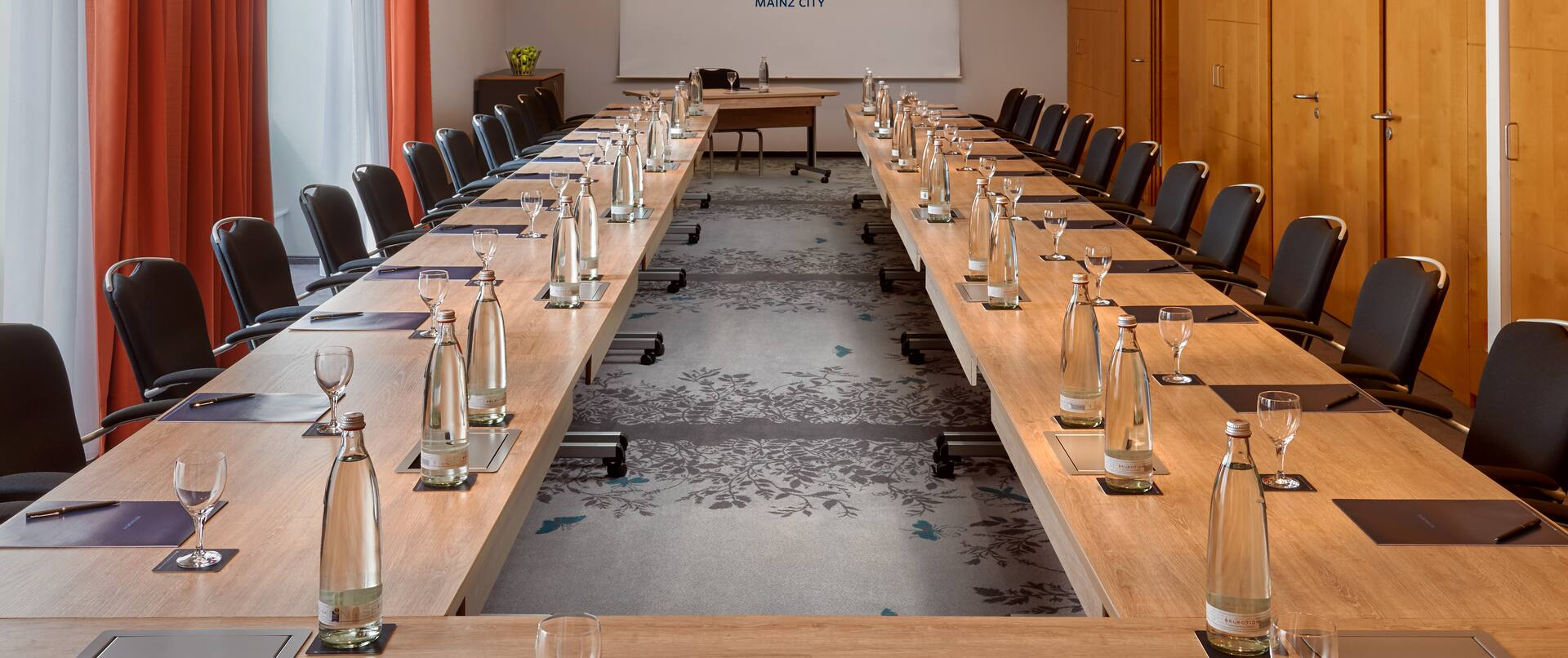 Long U-Shaped Meeting Table