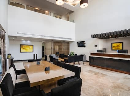 Hotel Lobby area with front desk