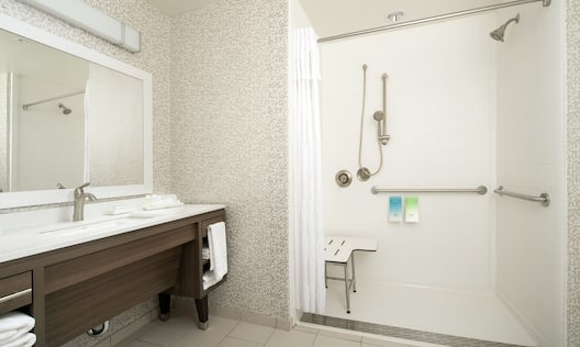 Guest Room Bathroom with Roll-in Shower
