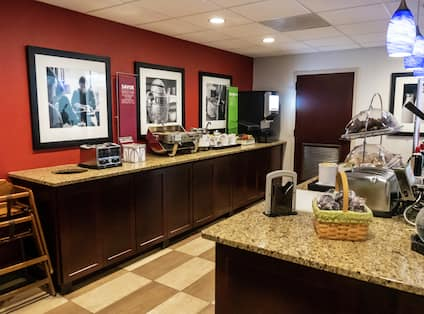 Breakfast Area with Hot Foods
