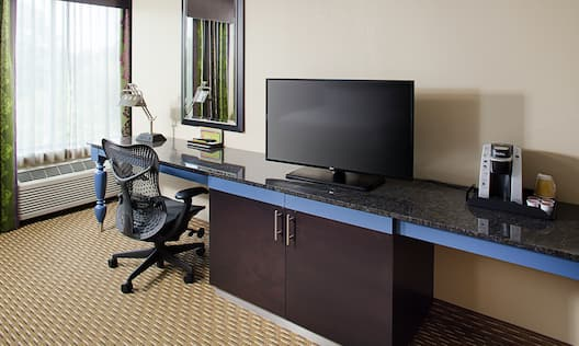 Guest Room Amenities, Work Desk and Television