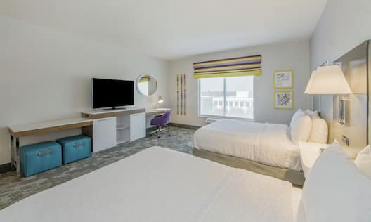 Accessible Hotel Room with Two Queen Beds and Amenities