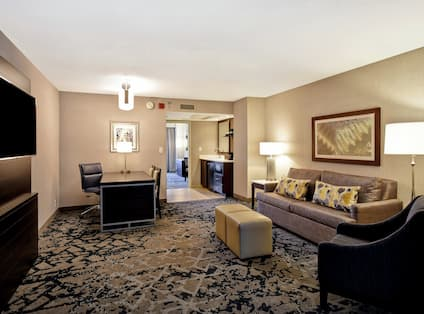 Separate Seating and Lounging Area in Suite