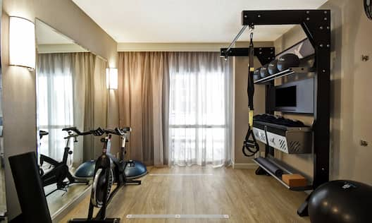 Guestroom Five Feet To Fitness Workout Area