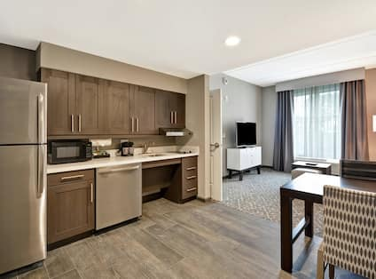 Accessible Kitchen in One Bedroom Suite