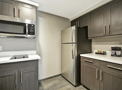 Suite Kitchen with Full Size Refrigerator