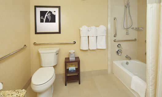 Accessible Bathroom with Shower and Tub