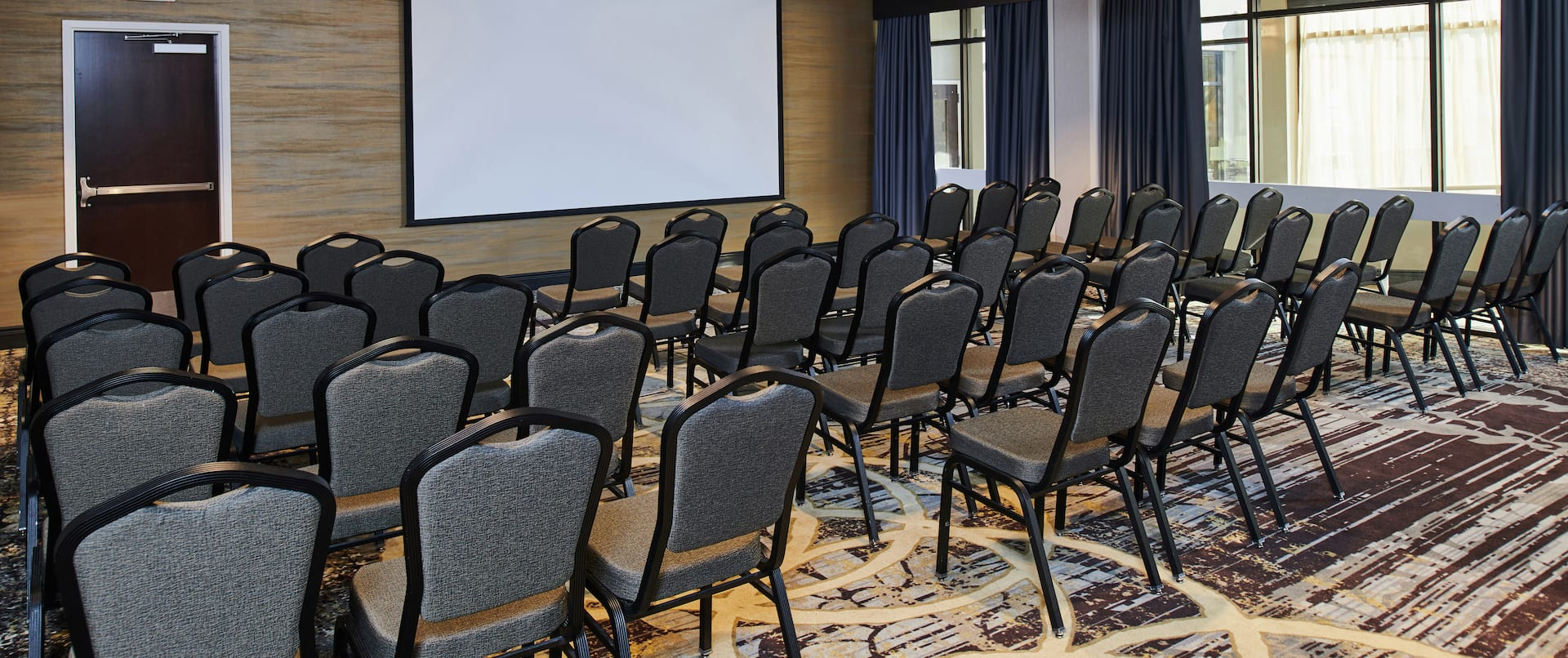 Classroom Style Theater Seating Setup and Meeting Space