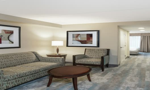 King Suite Living Area with Room Technology