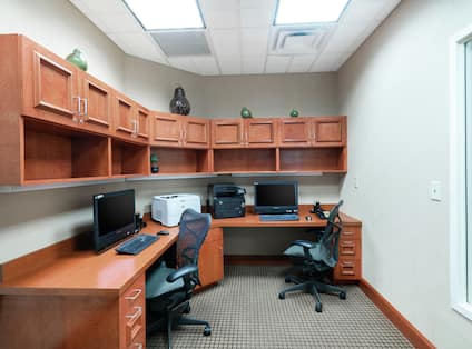 Business Center with Counter, Room Technology, and Chairs