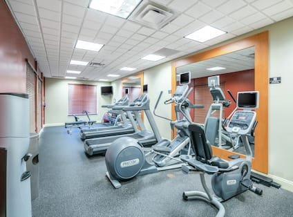 Fitness Center with Treadmills and Recumbent Bike