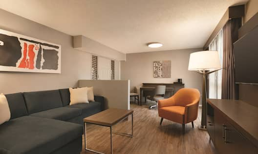 Accessible Corner Suite Living Area