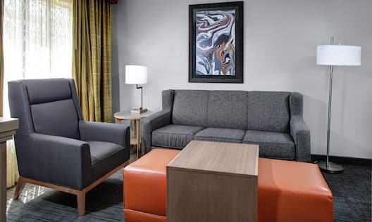 Suite Living and Lounge Area