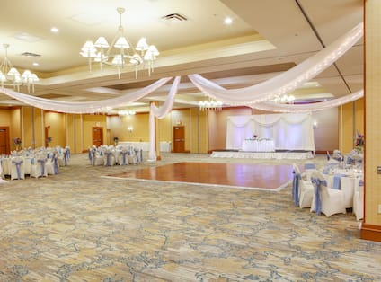 Ballroom With Wedding Set Up