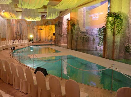 Event Setup At Indoor Swimming Pool