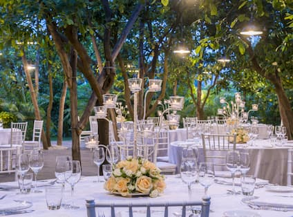 Dining Event in Garden