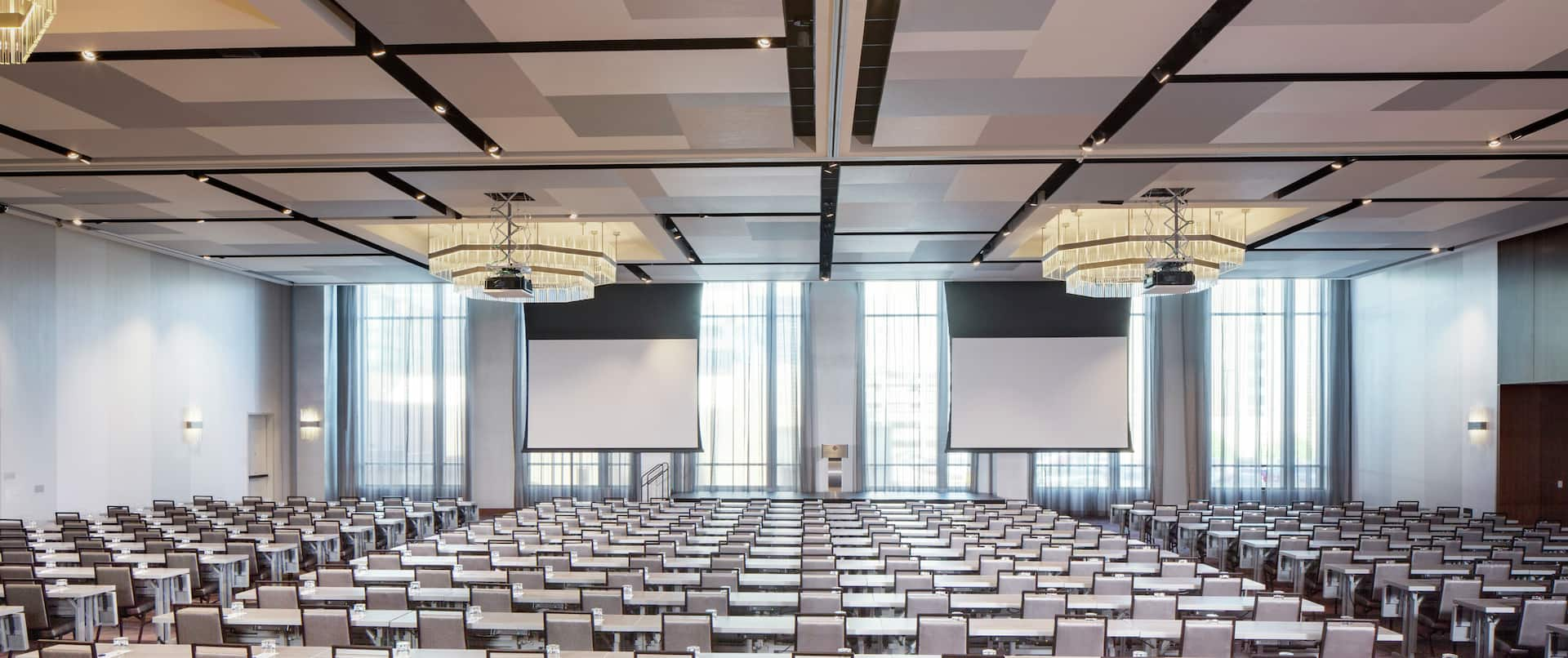 Ballroom Setup for a Conference