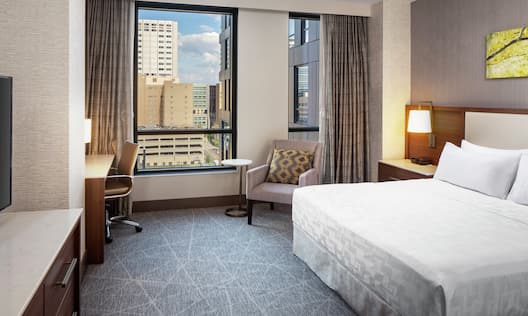 Single King Bed Guestroom with City View