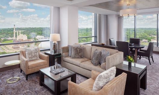 Suites Living Room with City Views