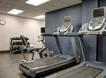 Fitness Center - Treadmills and Free Weights