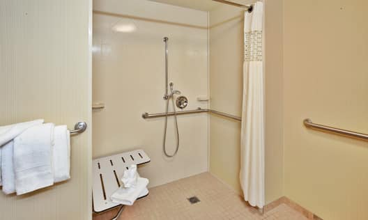 Accessible Guest Room Roll-in Shower