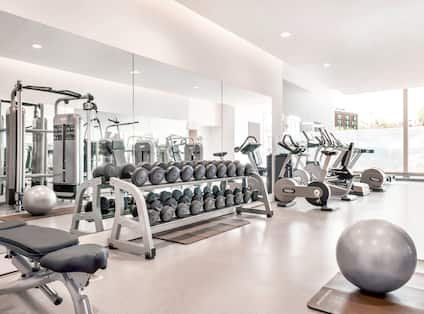 View of Fitness Center with Modern Equipment