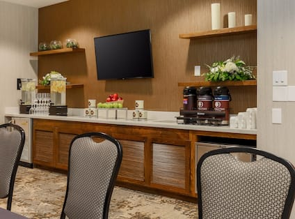 Meeting Room with HDTV and Wet Bar