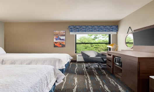 Accessible Queen Room with Two Queen Beds, Amenities and Large Window
