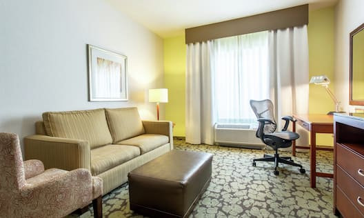 King Hotel Guestroom Suite Living Area