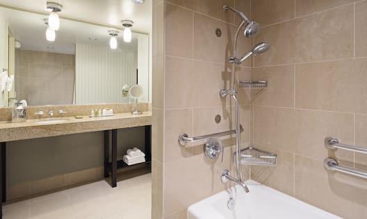 Accessible Bathroom Tub and Vanity