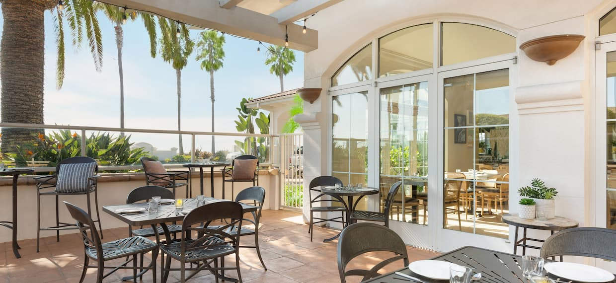 Outdoor Patio Dining Area with tables and chairs