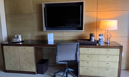 Workdesk with TV
