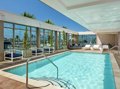 Hotel Pool with Seating