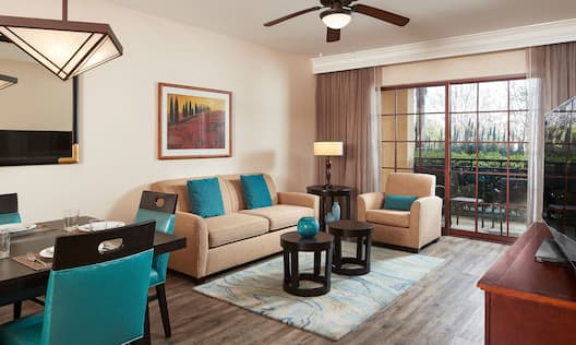 Suite Living Area with Large Window