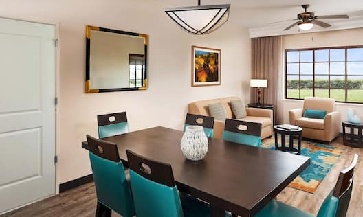 Suite Dining Area and Partial View of Living area with Large Window