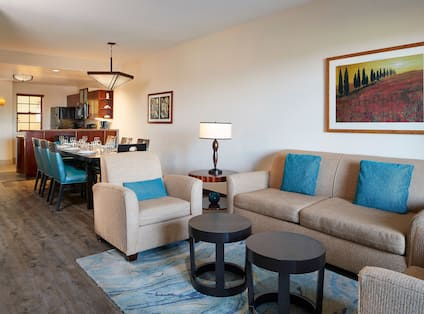 3 Bedroom Suite Living and Dining Area