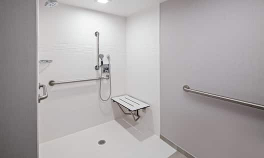 Accessible Bathroom With Roll In Shower