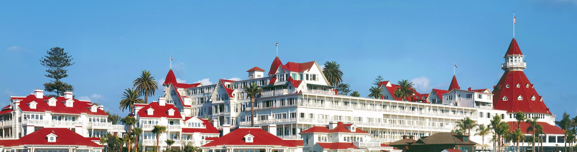 Exterior of Hotel del Coronado, Curio Collection by Hilton, CA