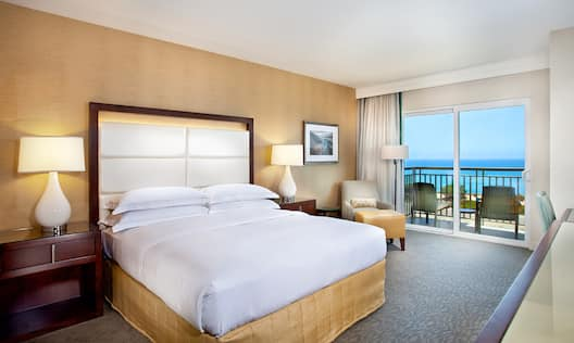 King Bed Room with Ocean View Balcony