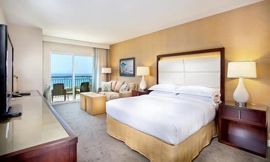 King Bed, Sofabed and Ocean View Balcony