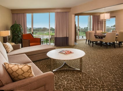 Suite Lounge Area With Terrace View
