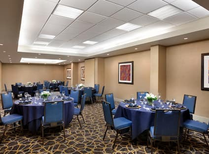 Banquet Tables in Meeting Room