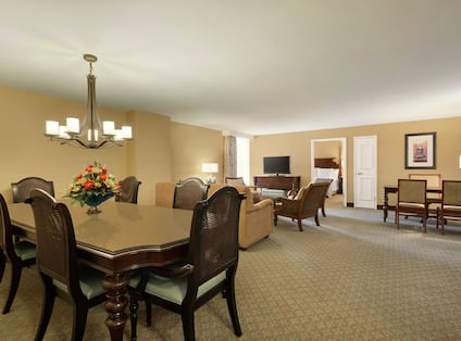 Presidential Suite Large Living Area Space and Table