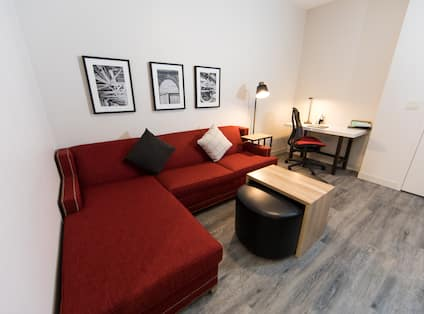 Suite Living Area and Work Desk
