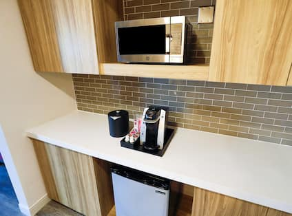 Suite Mini Refrigerator, Microwave, and Coffee Maker