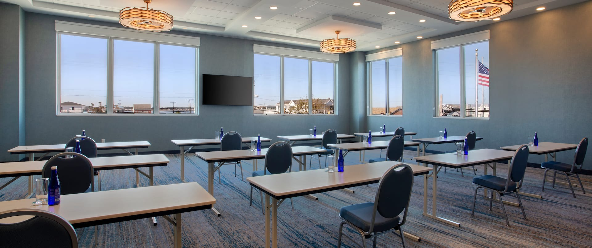 Meeting Room Tables, Chairs and Windows