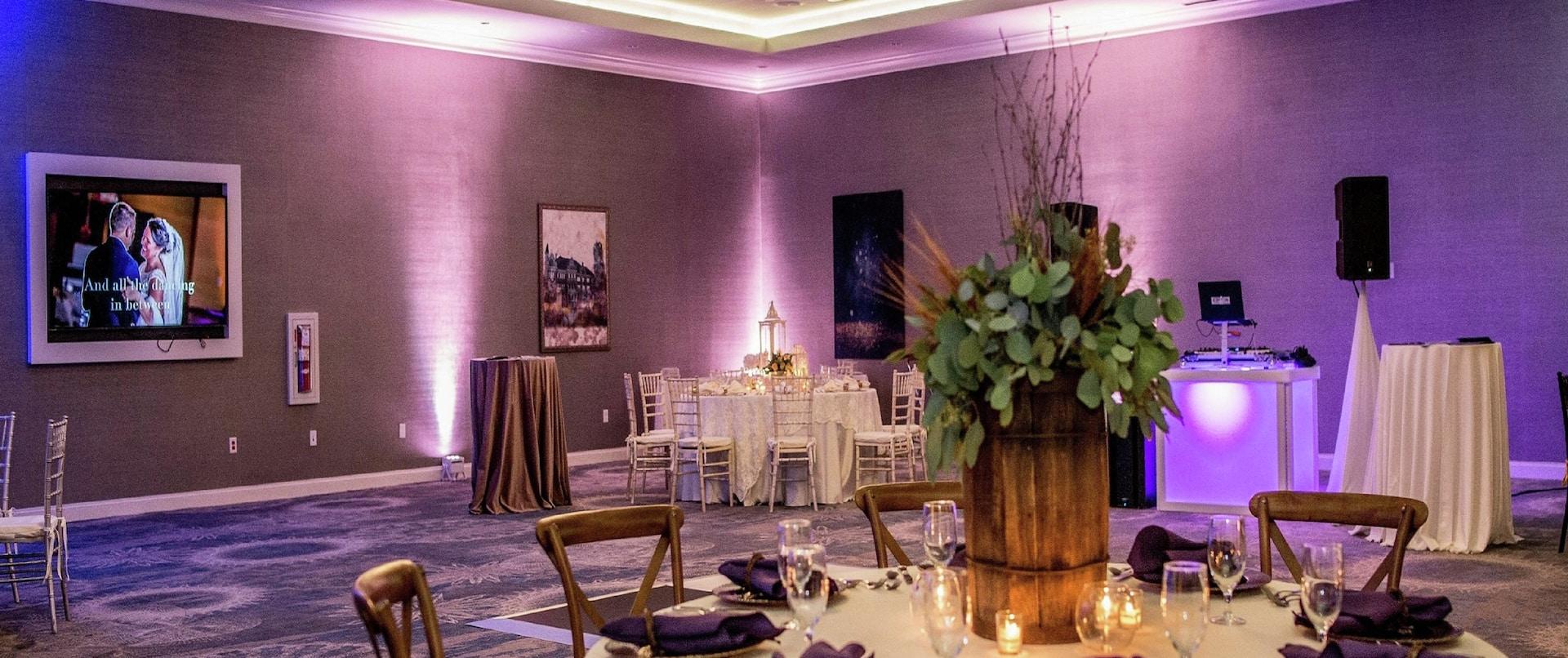 Electric City Ballroom setup for a banquet