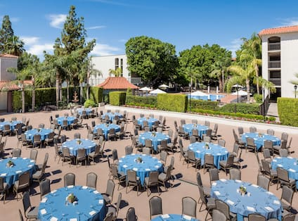 Silverman Terrace with Banquet Set-Up