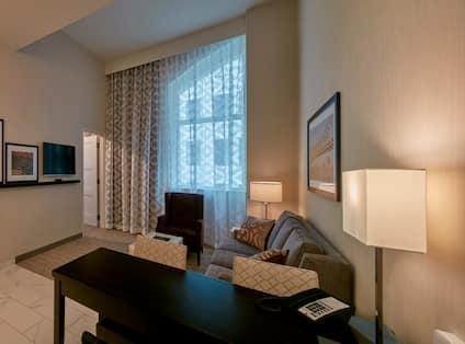 2 Room King Corner Living Area