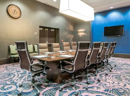 BOardroom Table with Leather Chairs
